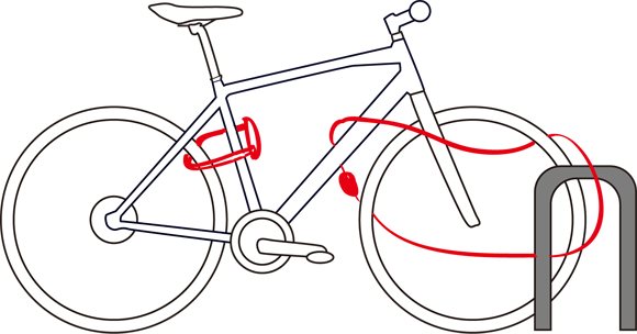 クロスバイクへの施錠はツーロックが基本