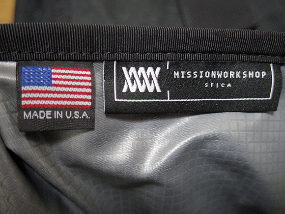 MISSION WORKSHOP自転車バッグ