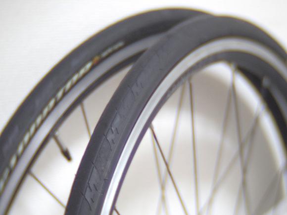 クロスバイクの23Cタイヤのパンク対策