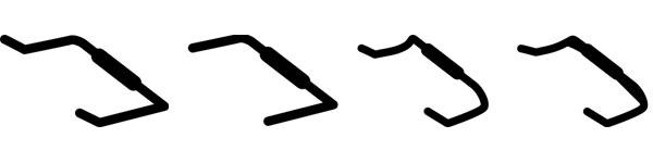 ブルホーンバーの形状