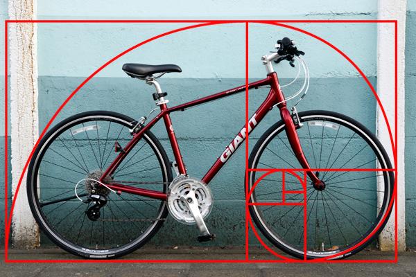 クロスバイクのESCAPEを黄金比で考える