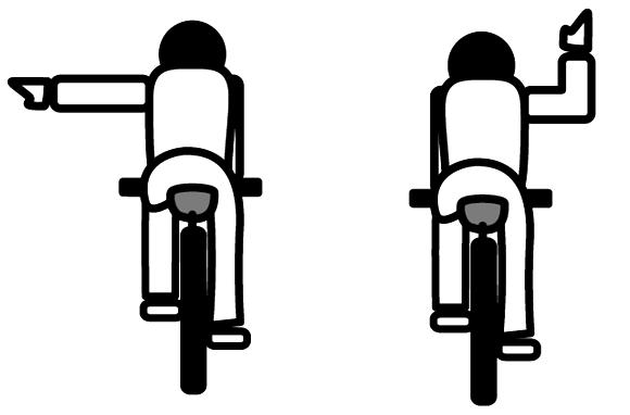 自転車の手信号 左折1