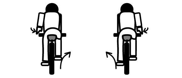 自転車の手信号 寄せ
