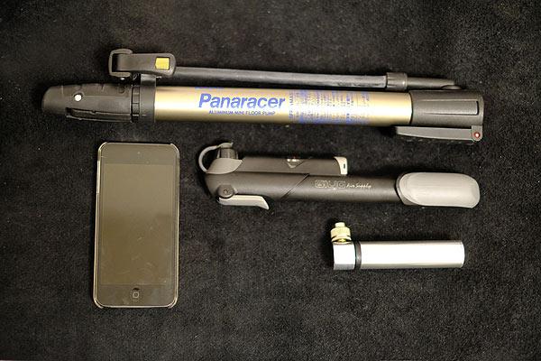 自転車用携帯ポンプ air boneの大きさ比較画像