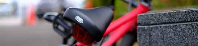 反射シールを貼って自転車の視認性アップ!
