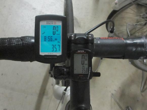 GPSサイクルコンピューターの最高速度