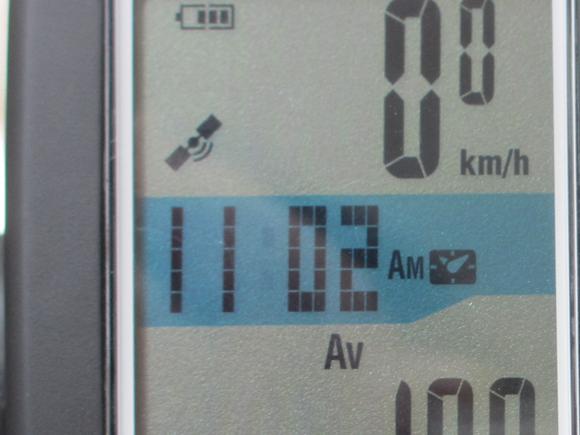 GPSサイクルコンピューターの位置情報受信