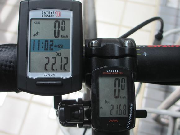 GPSサイクルコンピューターの走行距離比較