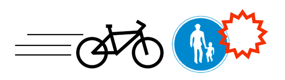 自転車運転者講習 歩行者用道路における車両の通行義務違反