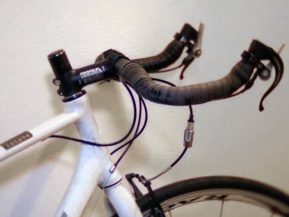 スポーツサイクル 新しいステム取り付け