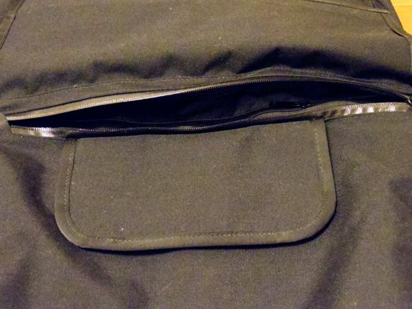 messenger bag メッセンジャーバッグのファスナー