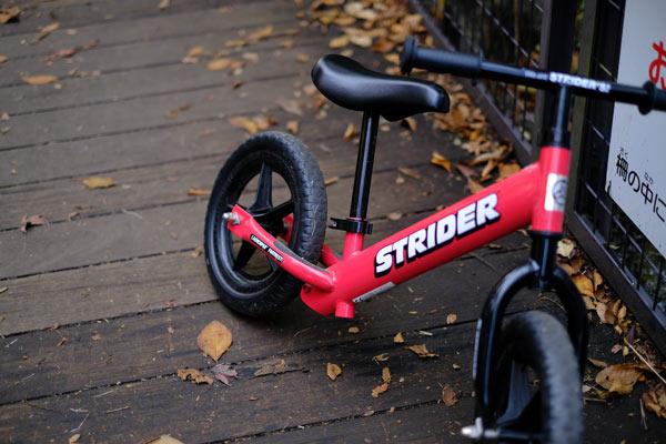 4歳から自転車デビュー