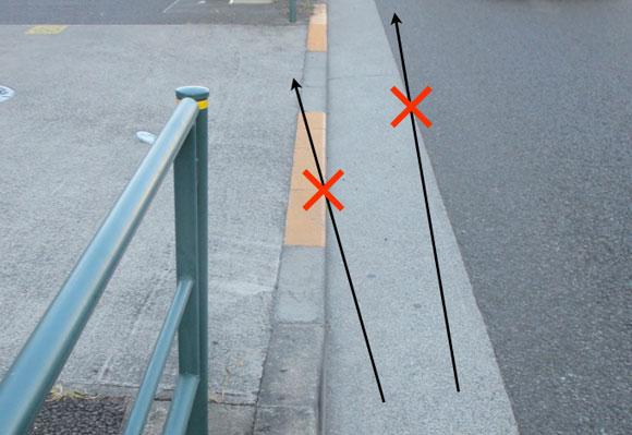 自転車では気をつけたい縁石の段差