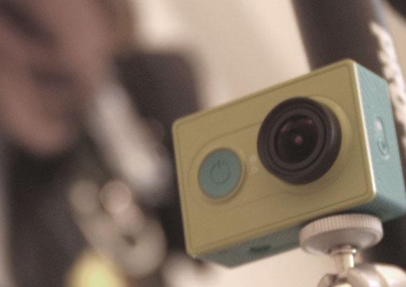自転車にアクションカメラでドライビングレコーダー