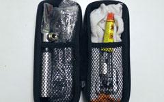 シマノのツールボトルから見開きツールボトルのウィザードWZ TC-1021Gへ中身の移し替え