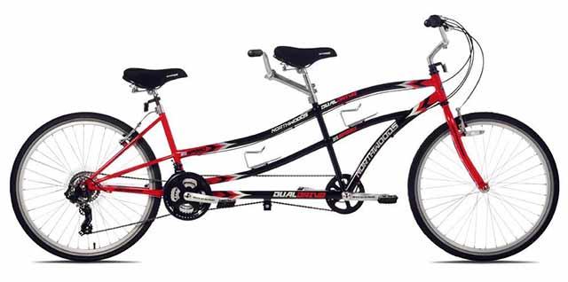 二人乗り用自転車のタンデム自転車