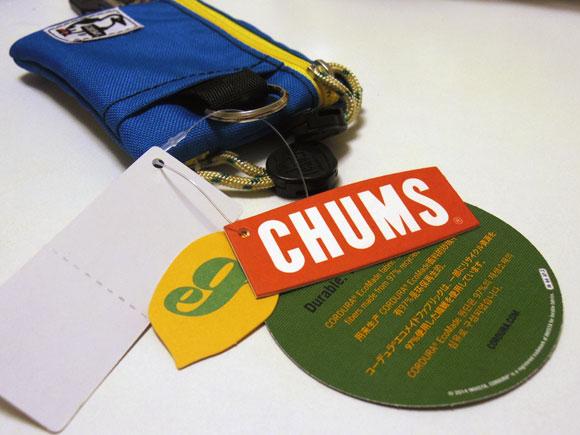 CHUMSのエコキーコインケースの商品タグ