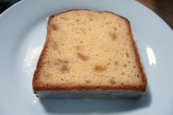 自転車の補給食にパウンドケーキ