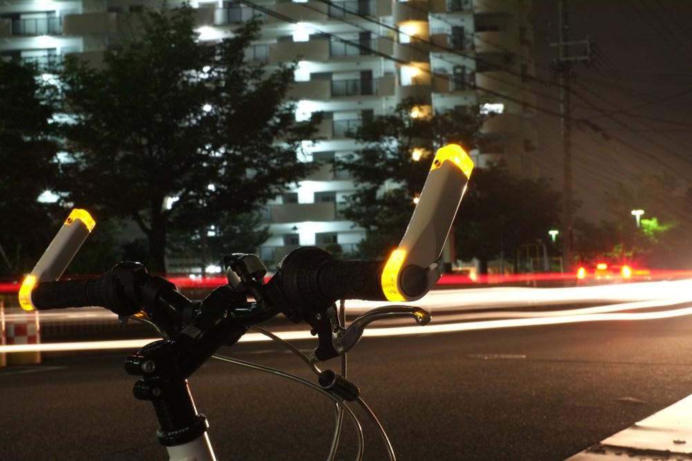 バーエンドバータイプの自転車用ウインカー