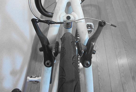 自転車のブレーキトラブル