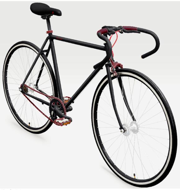 オシャレなシングルスピードの自転車