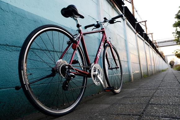カッコいい自転車写真例夕暮れ