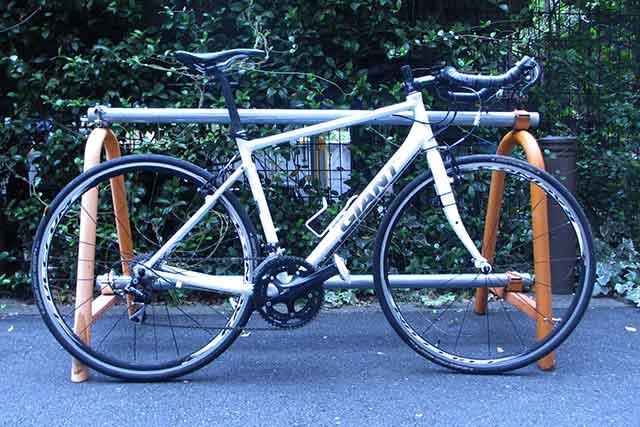 ポイントを意識する前の自転車の写真