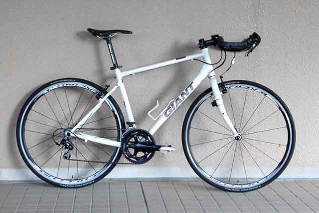 ポイントを意識した後の自転車の写真