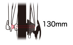 リアエンド幅130mmのクロスバイクならロード用ホイールも使えて改造・カスタマイズがより楽しくなる