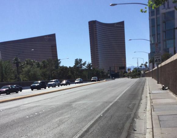 アメリカ・ラスベガスの自転車の道路