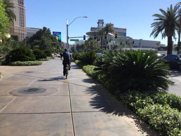 アメリカ・ラスベガスの歩道