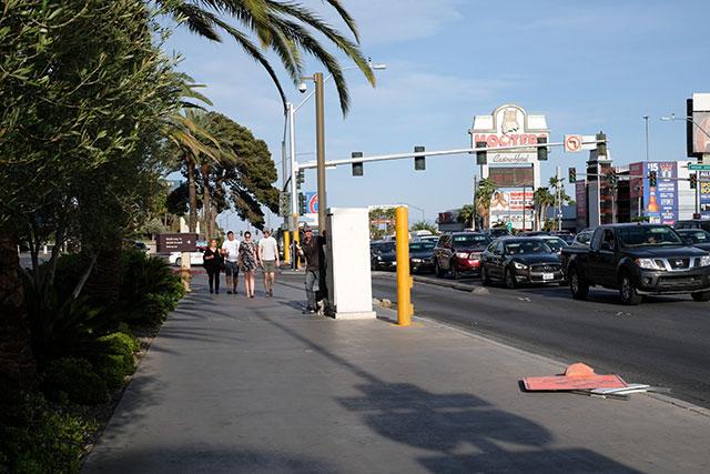 ラスベガスの歩道