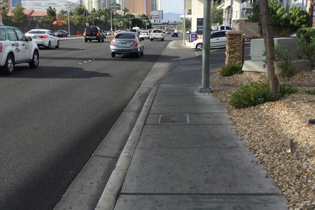 ラスバガスの歩道と自転車