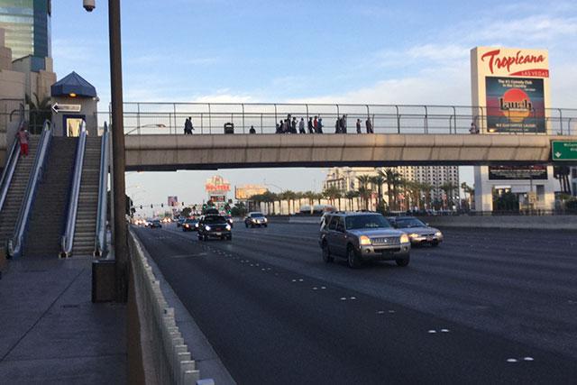 ラスベガスの道路幅
