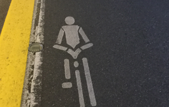 自転車はキープレフト