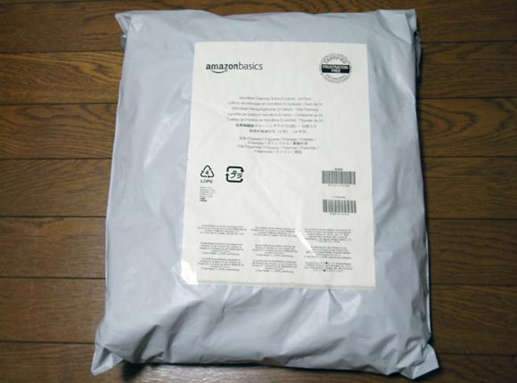 Amazonベーシック マイクロファイバー クリーニングクロス包装