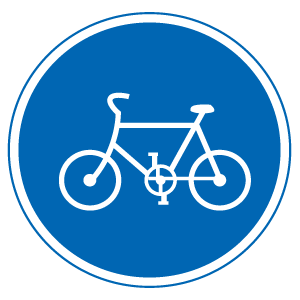 自転車用の道路標識 自転車専用道路