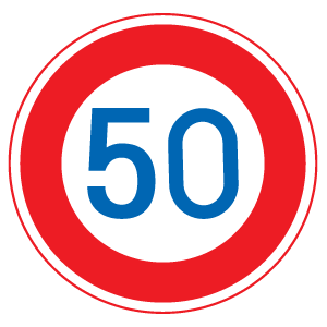 自転車用の道路標識 最高速度