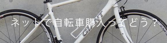 ロードバイクやクロスバイクをネットで購入して良いか?