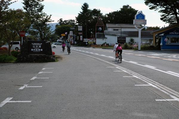 山中湖と自転車事情