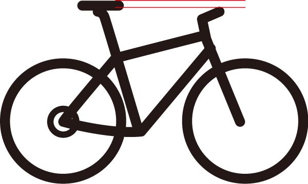 クロスバイクのサドルの高さ