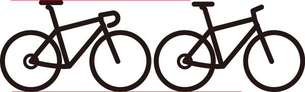 ロードバイクのサドルの方が高い?