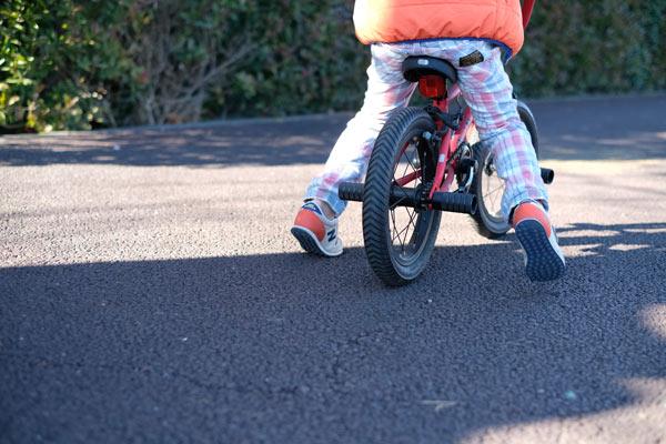 子供が自転車に乗れる