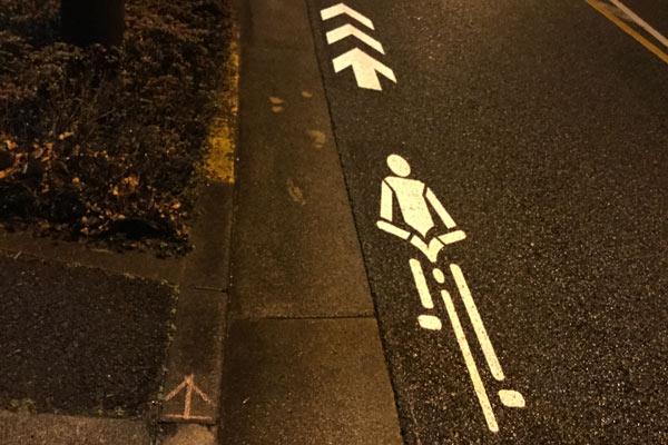 自転車ナビマークの注意