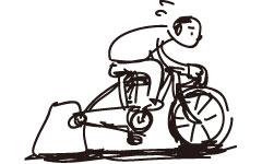 後輪ホイールの要らないダイレクトドライブ式インドアトレーナー