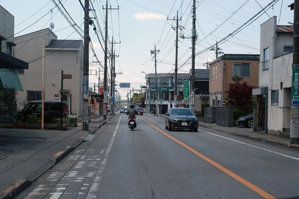 宇都宮の自転車専用レーン