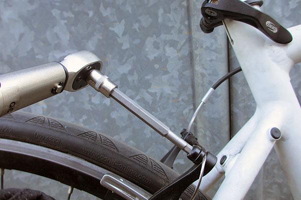 自転車ブレーキ調整