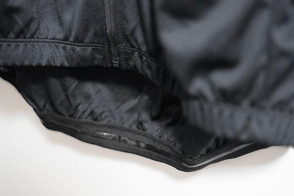 サイクルジャージの裾