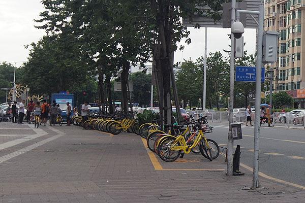 中国シェアバイク