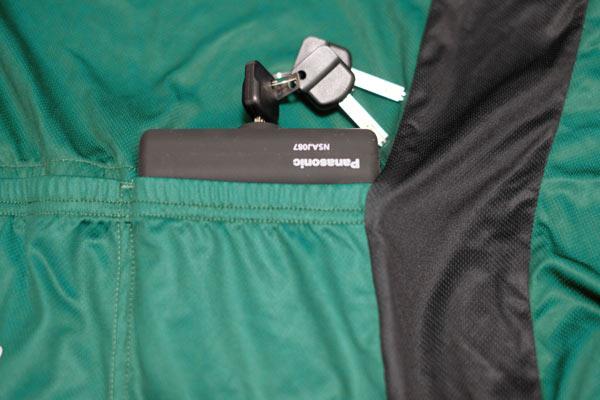 サイクルウェアのポケット